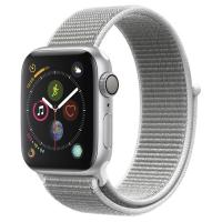 Часы Apple Watch Series 4 GPS 44mm Aluminum Case with Sport Loop (Серебристый/Серая ракушка)